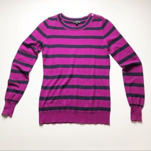 The Limited Striped Fuchsia & Black Sweater Size M